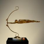 """Focus II"" Bronze 41""x12""x42"" Limited Edition 28"