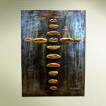 """Bread of Life"" Wall Hanging Bronze & Steel 60""x42"" Limited Edition of 36"