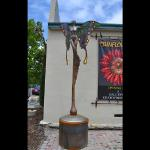 Amorphius II Bronze, Steel and Iridized Glass 10 feet tall by 5 feet wide Limited Edition of 10