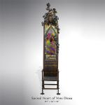 "Sacred Heart of Vino Diosa Original  Steel, Bronze, Stainless Steel & Iridized Glass 132""x24""x24"""