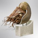"The Nautilus Bronze & Aluminum 30""x30""x10"" Limited Edition 24"