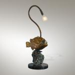 "Anglerfish Bronze & Steel lamp  26""x1""x9"" Limited Edition of 98"