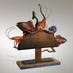 "Taco de Mariscos Bronze & Steel 30""x10""x30"" Limited Edition of 10"