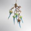 "Medusa Chandelier Stainless Steel, Bronze & Hand-Blown Glass Original 24""x24""x36"""